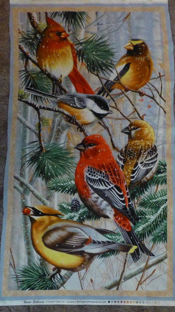 Cotton Fabric, Quilt Fabric, Home Decor, Winter Gathering ,Wilmington  Prints, By The Panel,Wall Hanging,Fast Shipping,N118