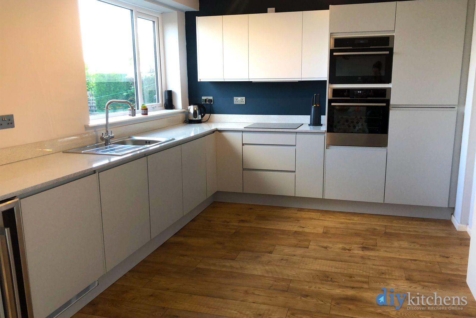 Best An Innova Luca Dove Grey Handleless Kitchen In 2019 400 x 300