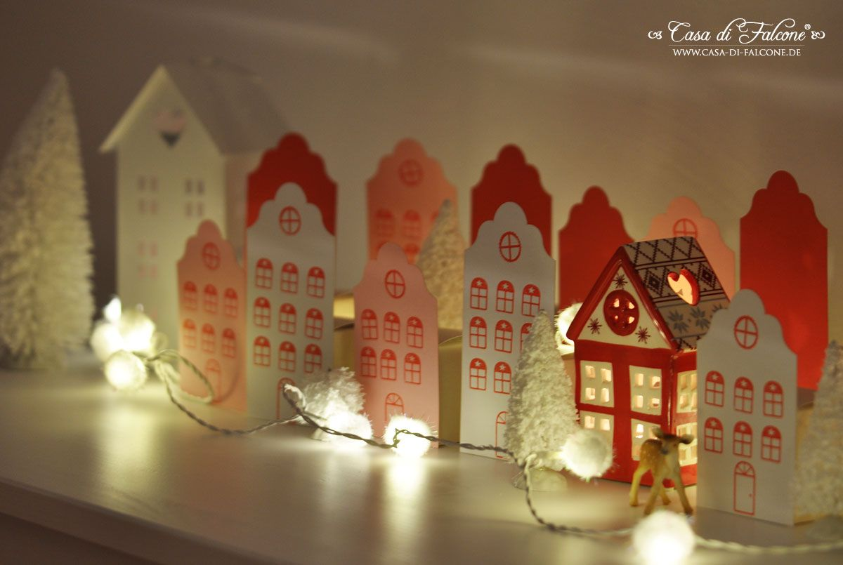 Adventskalender No. 15 - Häuserstadt & DIY Christmas Pinterest
