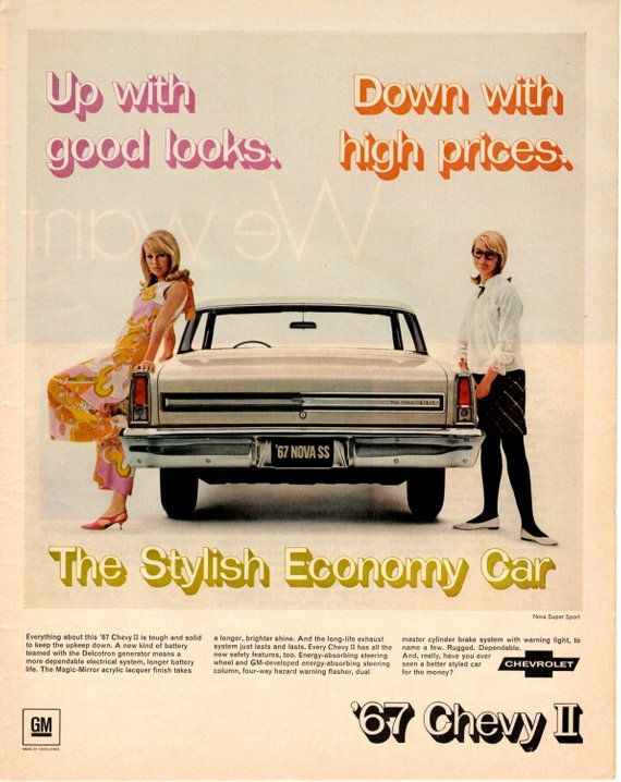 1967 Chevrolet 2 vintage magazine ad wall decor man cave gift ...