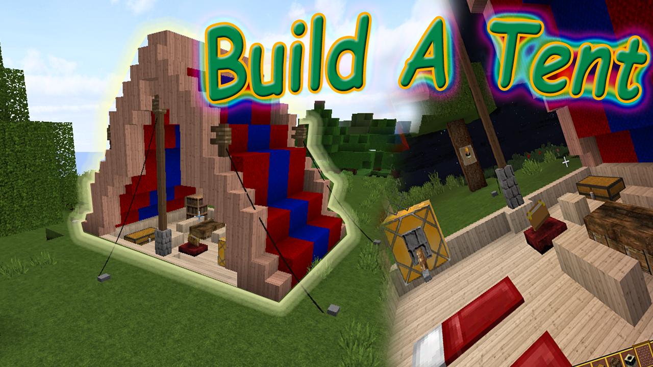 build a tent in minecraft  Minecraft decorations, Minecraft
