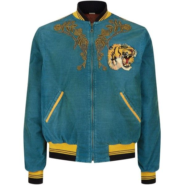 Gucci Tiger And Dragon Corduroy Bomber Jacket ( 5 c30c5786e0