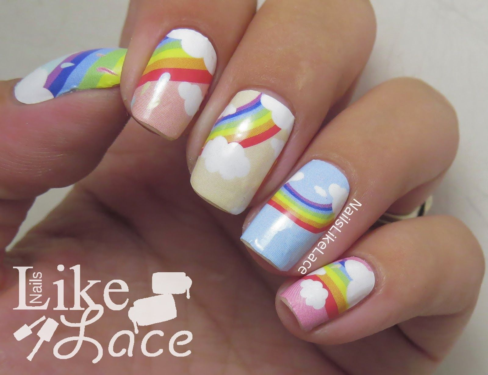 NailsLikeLace: Rainbow Nail Wraps | Born Pretty Store Products ...