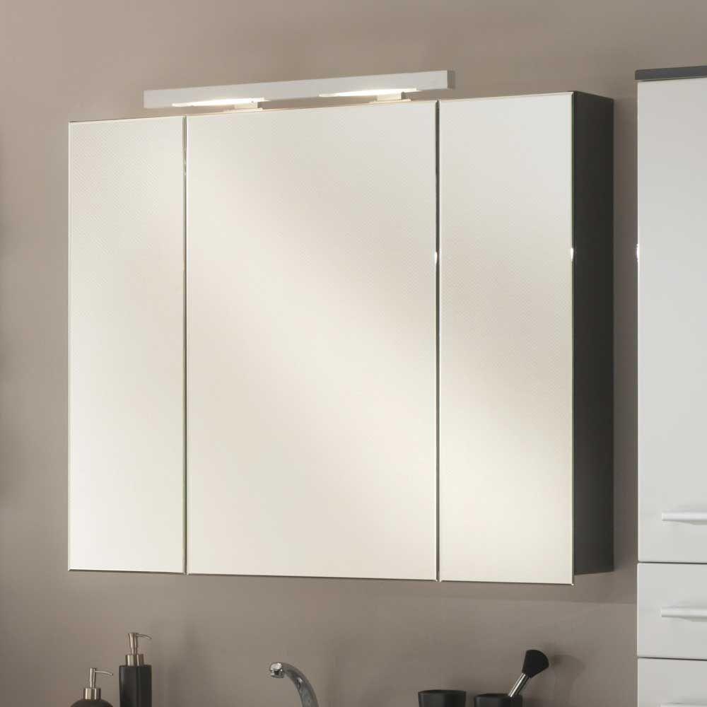Bad Spiegelschrank mit Beleuchtung Dreitürig Jetzt bestellen unter