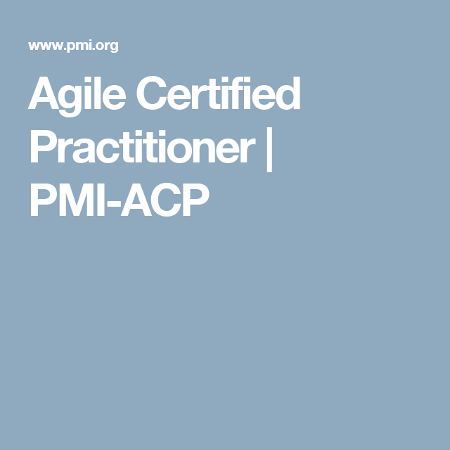 Agile Certified Practitioner Pmi Acp Great Fucking Tips
