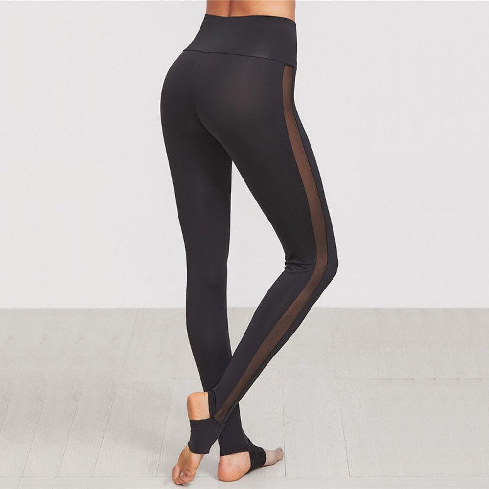 d78cadd59e543 Brilliant Casual High Waist Mesh Leggings Mesh leggings, leggings with  mesh, mesh workout leggings