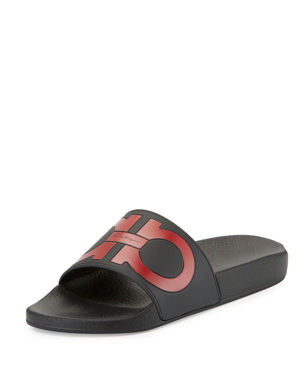 c377aa052401 Salvatore Ferragamo Gancini Slide Sandal