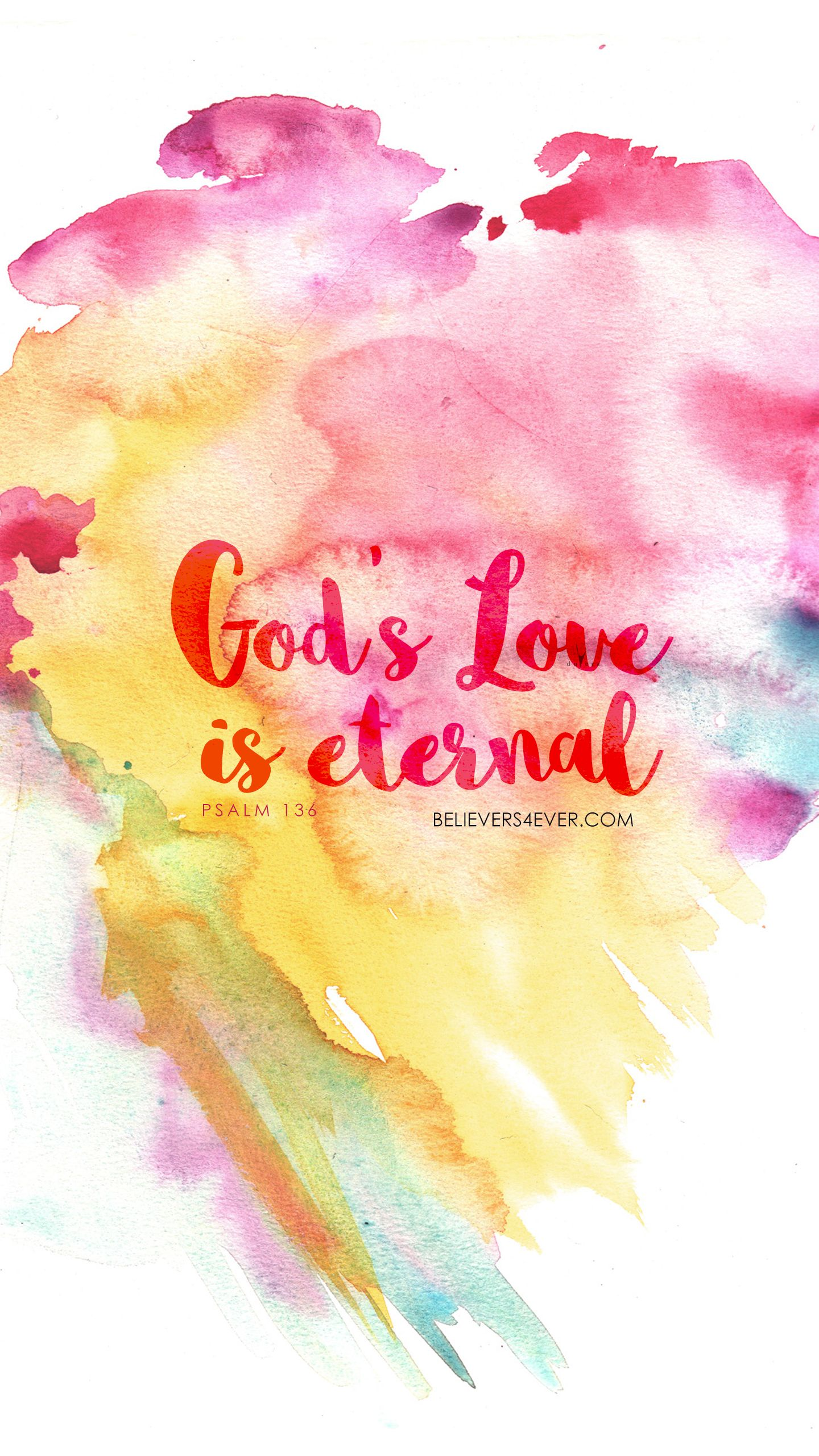 God S Love Is Eternal Watercolor Texture Watercolor Watercolor