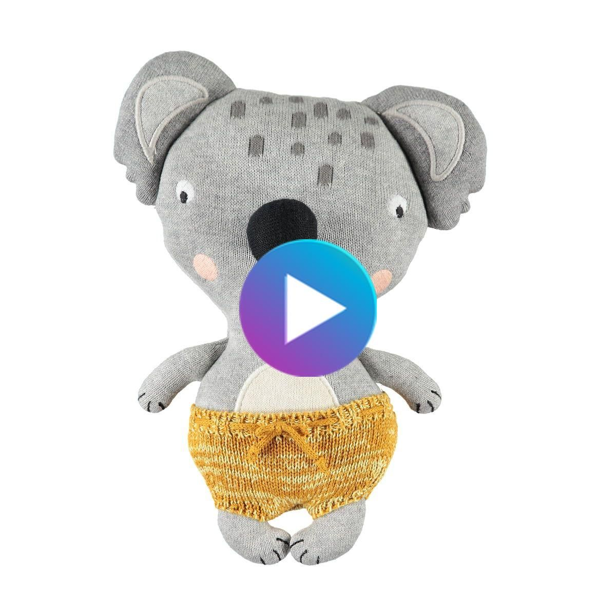 Oyoy ニットソフトおもちゃ 赤ちゃんコアラアントン Baby Koala Dinosaur Stuffed Animal Animals