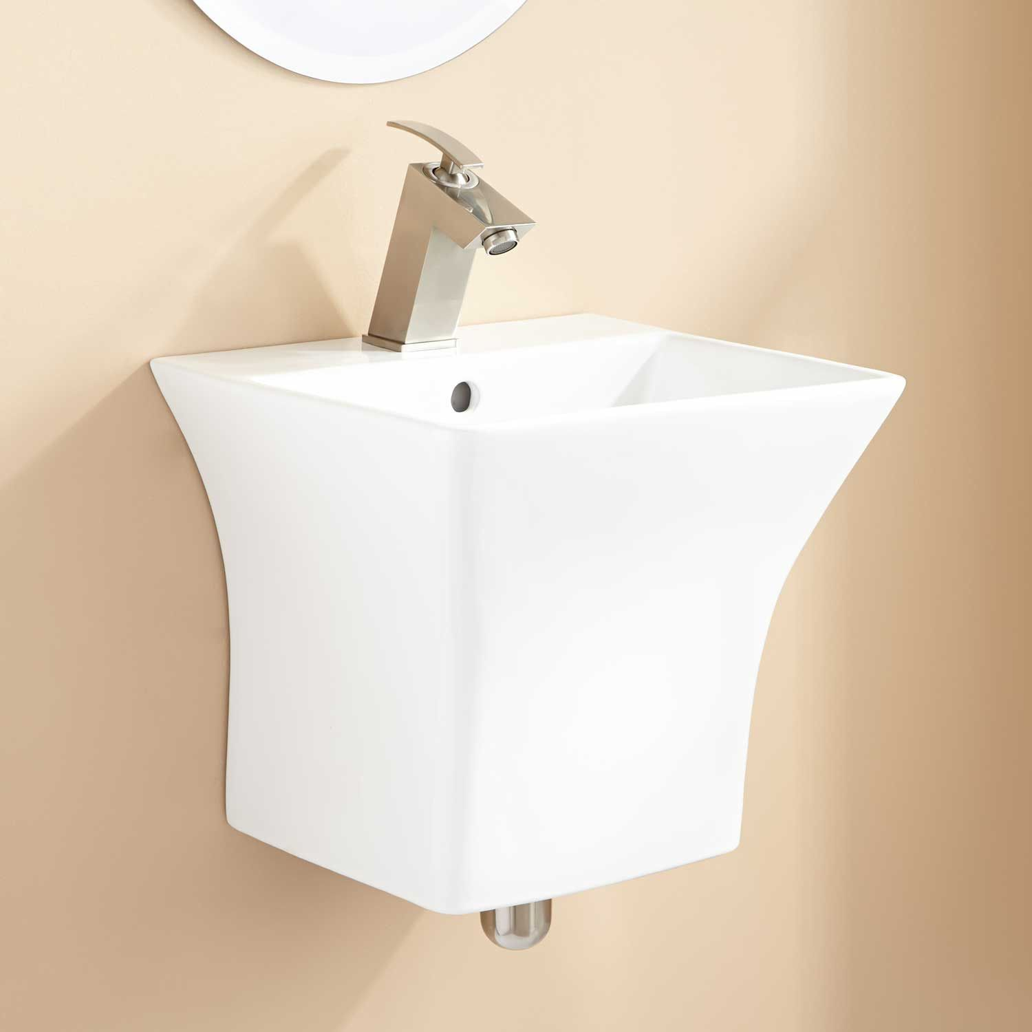 Option #bathroomdesignoptions | Wall mounted sink, Wall ...