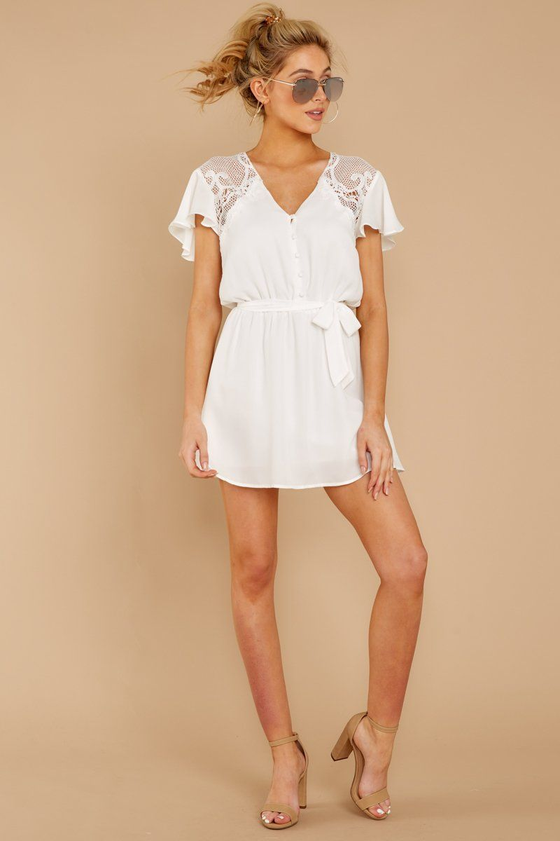 Something Pretty White Lace Dress Spring Summer Fashion