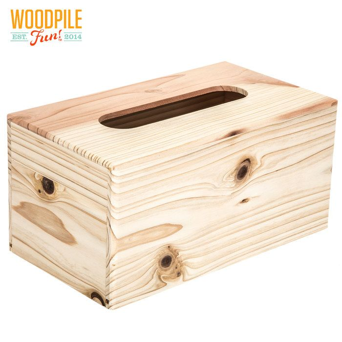 Wood Tissue Holder Unfinished Wood Boxes Wood Unfinished Wood