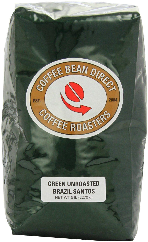 Brazil santos green unroasted coffee beans 5lb brazil