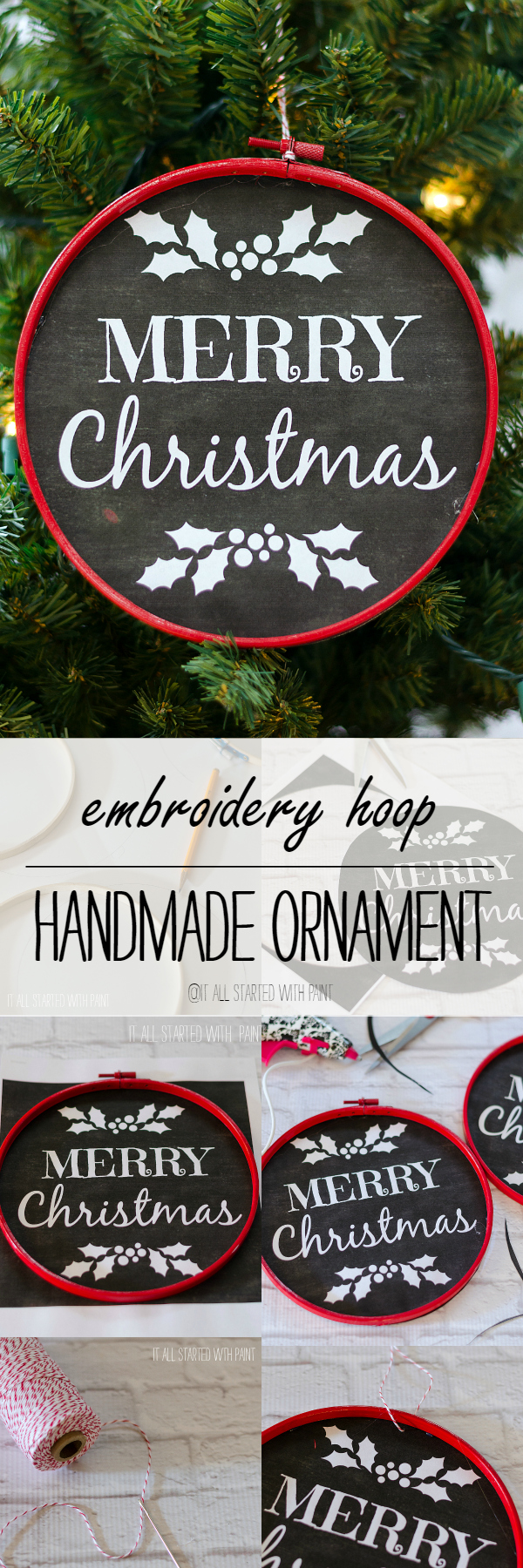 Handmade christmas ornament craft ideas embroidery hoop ornament