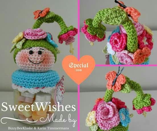 Pin de marina siebert en crochet | Pinterest | Frascos y Hogar