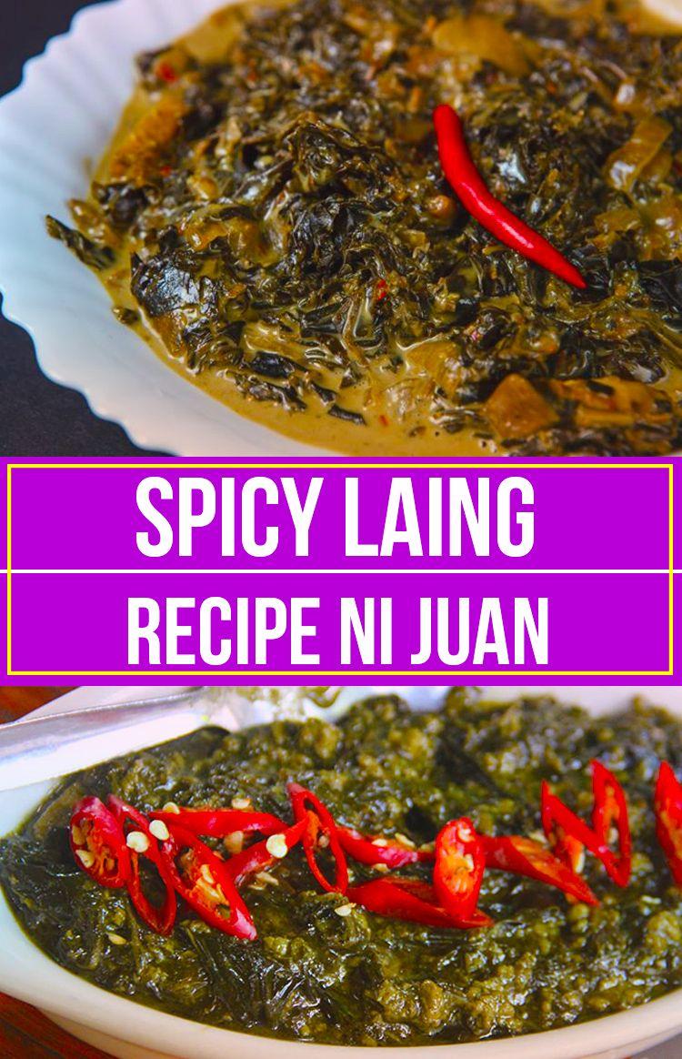 Laing Recipe Taro Leaves In Coconut Milk Recipe Laing Recipe Recipes Filipino Vegetable Recipes