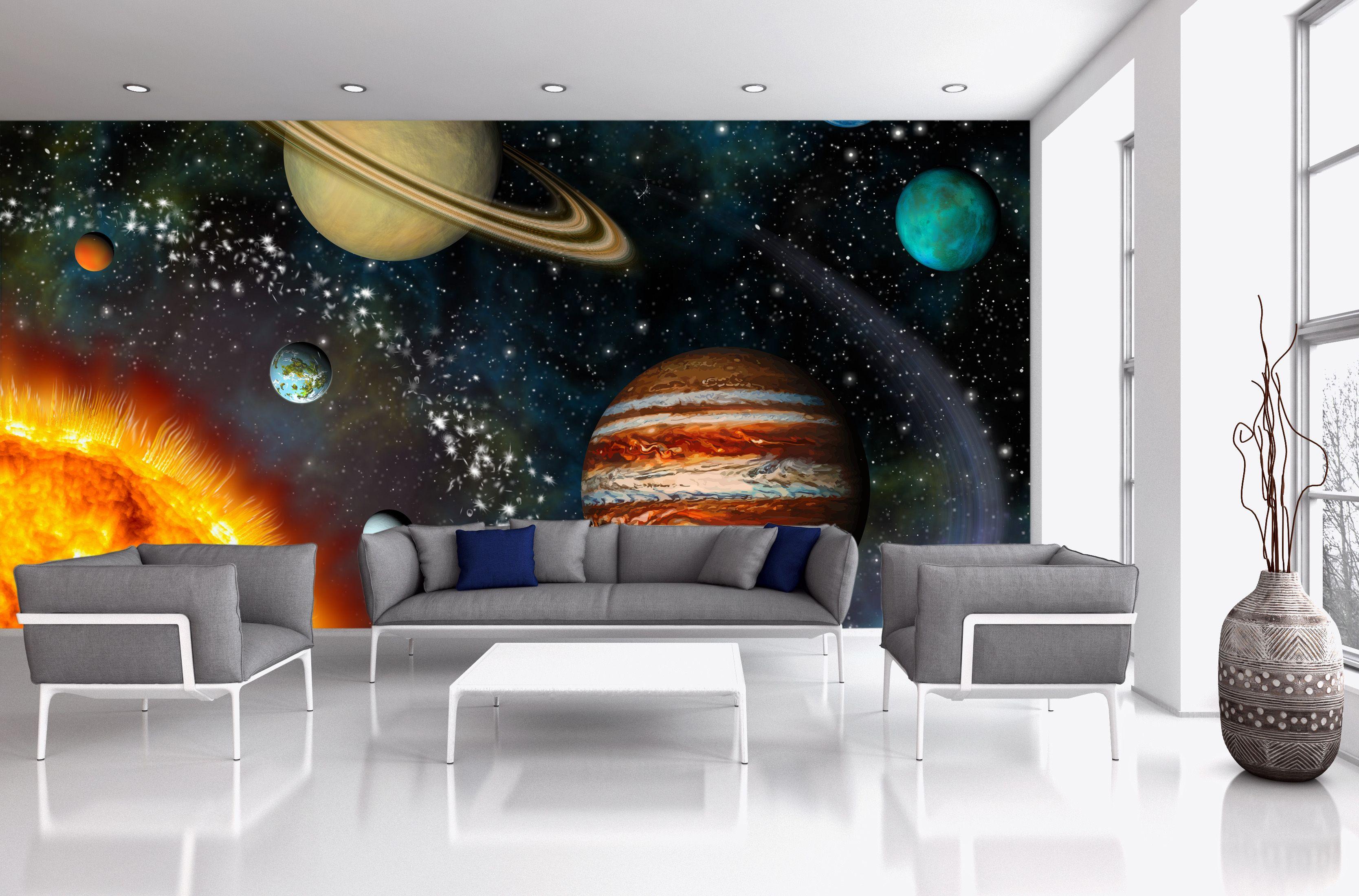 3D Solar System #wall #mural Part 31