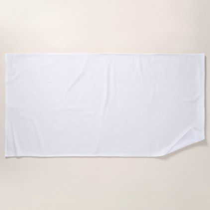 Plain White Beach Towel Zazzle Com Beach Towel Towel White