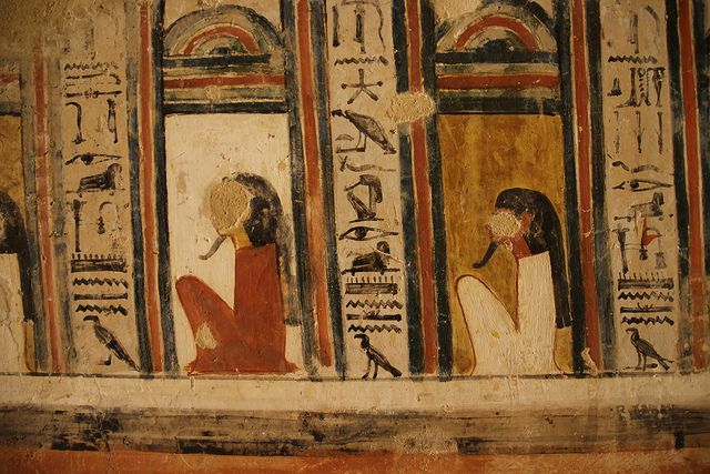 desecrated images, Valley of the Nobles tomb.