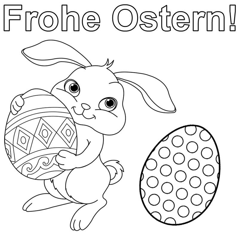 AUSMALBILD OSTERN – Ausmalbilder für kinder … | Pinterest