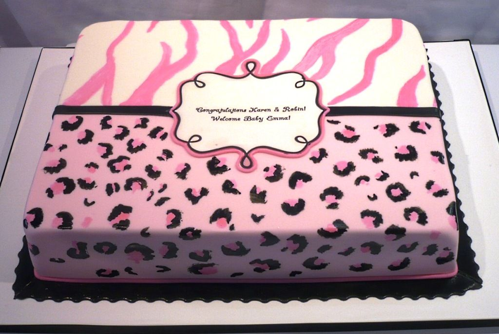 ZebraPrintBabyShowerCakesjpg 1024687 Baby Shower Cakes