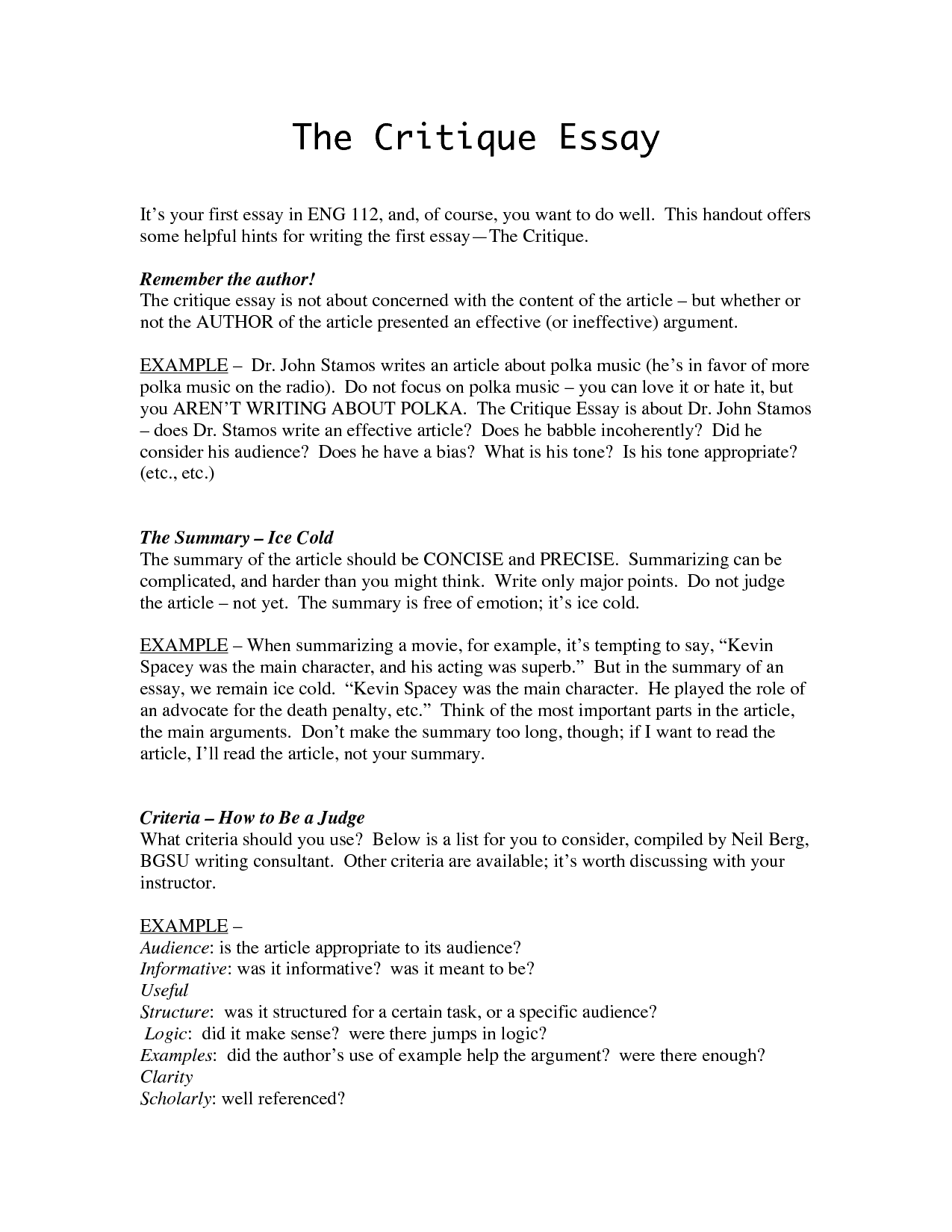 writing a critical film essay - Literary Essay Format