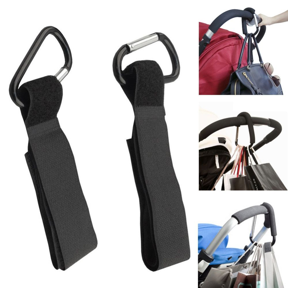4 x Universal Mummy Buggy Clips Pram Pushchair Stroller Hook Shopping Bag Holder