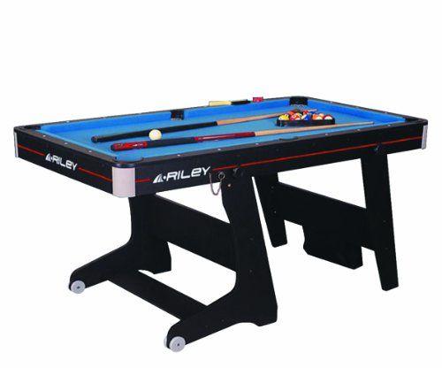 Riley 5 Ft Folding Domestic Pool Table   Black