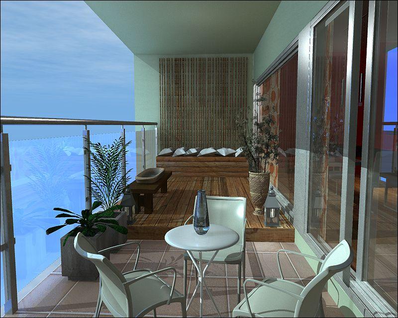 Diseño Para Balcon Terraza Con Deck Exteriors Room Home