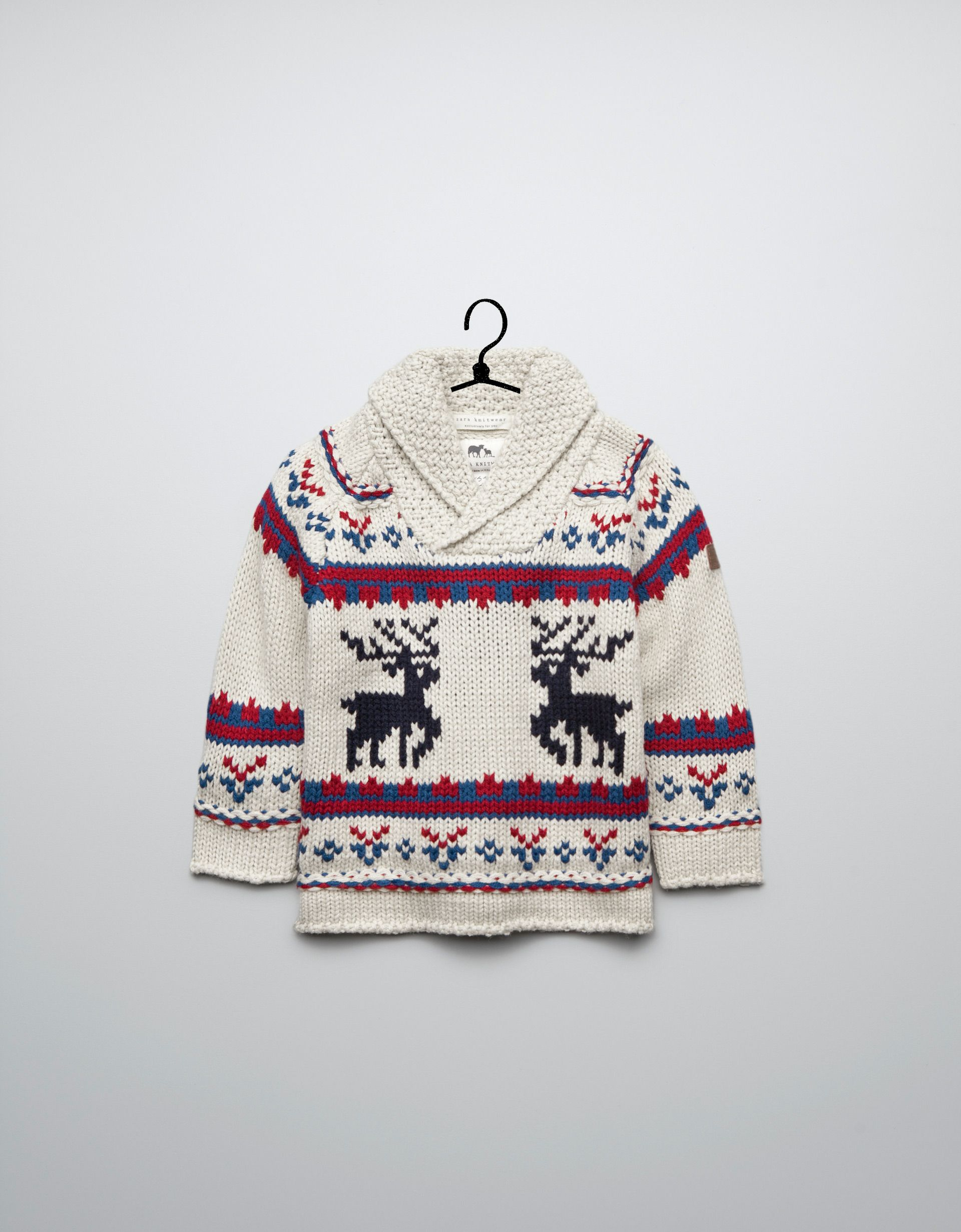 reindeer pattern jacquard sweater - Cardigans and sweaters ...