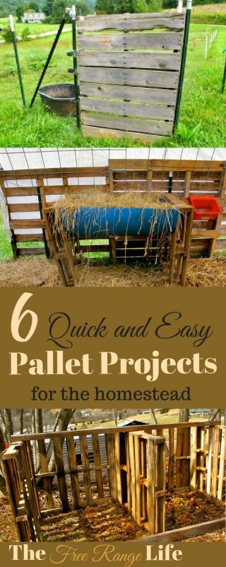 6 Quick and Easy Pallet Projects for the Homestead (con