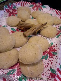 Polvorones, also known as the Mexican Wedding Cookies when rolled round and dredged in powdered sugar. My Mom would prepare an almost identical version of this cookie, but we grew up knowing them a…