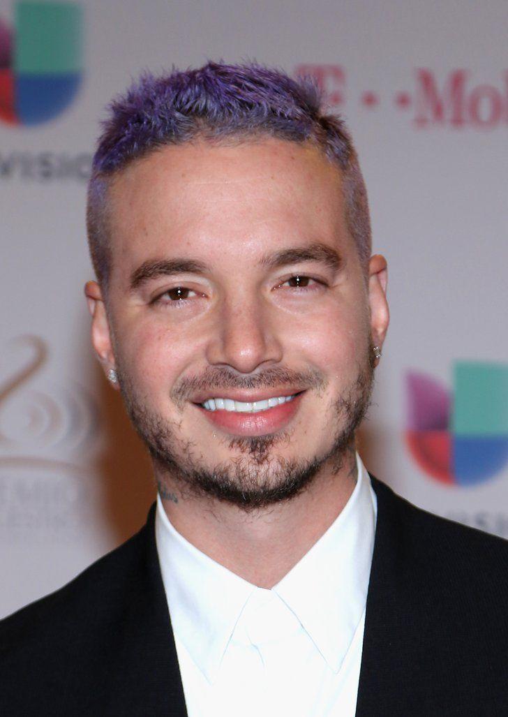 When J Balvin Was Also Rocking Purple Hair Mens Hairstyles Men Hair Color Hair