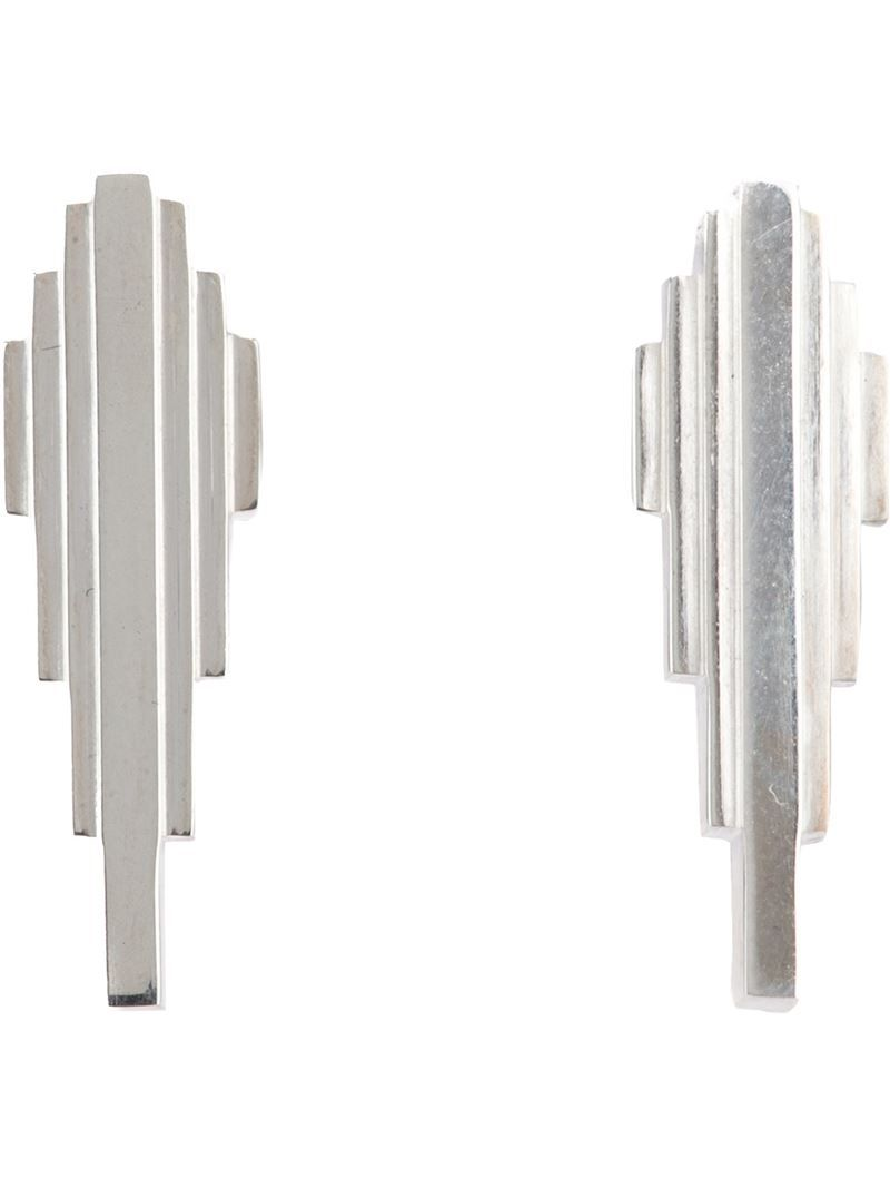 CLARICE PRICE THOMAS 'Antumbra Wing' lobe earrings - on Vein - getvein.com