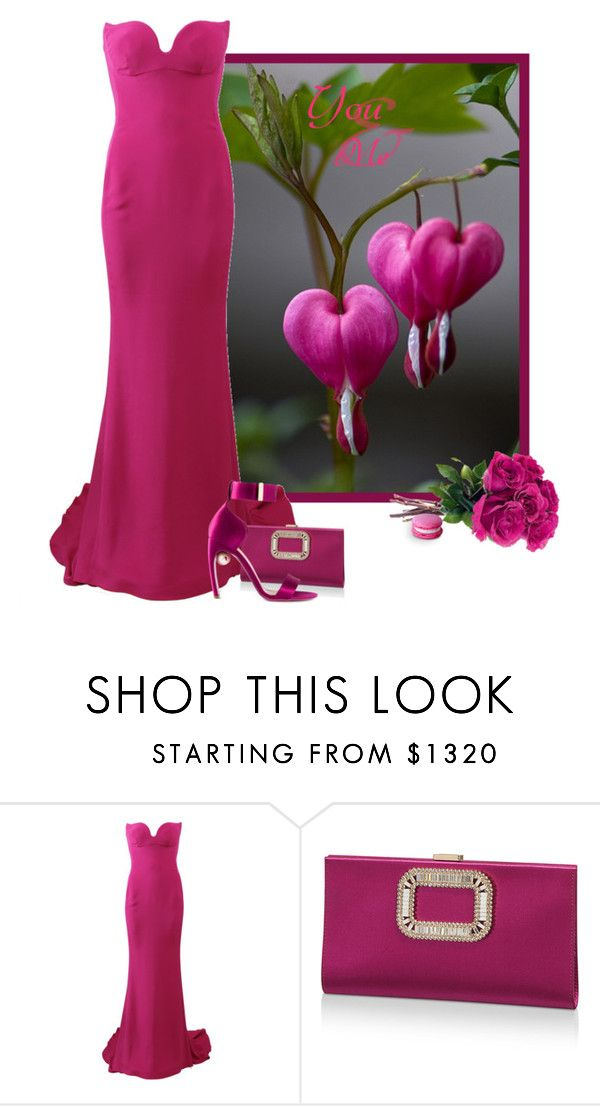 """""""Bleeding Hearts"""" by feelgood35 ❤ liked on Polyvore featuring STELLA McCARTNEY, Roger Vivier, Nicholas Kirkwood, Pink and Gowns"""