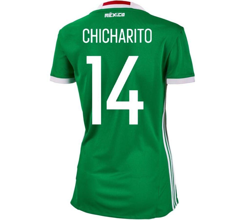 6399a9ba23c Adidas #14 Chicharito Mexico Home Women Soccer Jersey Copa America 2016  #adidas