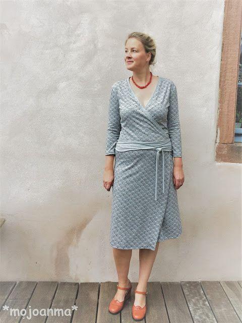 Noch ein Wickelkleid, bitte.....Blogtour | mojoanma näht | Pinterest ...