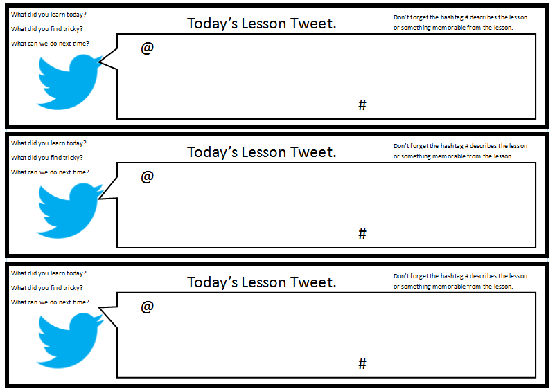 Tweet Templates For Students  Google Search  Th Grade Twitter