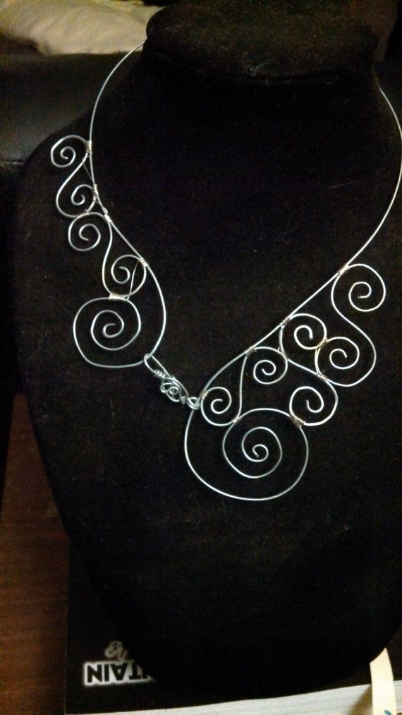 Wire Necklace by CreationsoHope on Etsy, $40.00