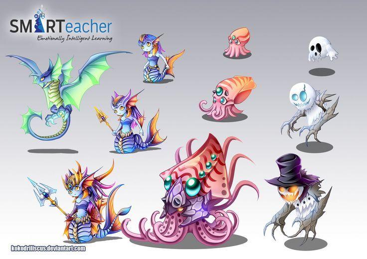 Prodigy Water Monsters By Kokodriliscus On Deviantart Chibi Prodigy Math Game Prodigy Math Creature Art