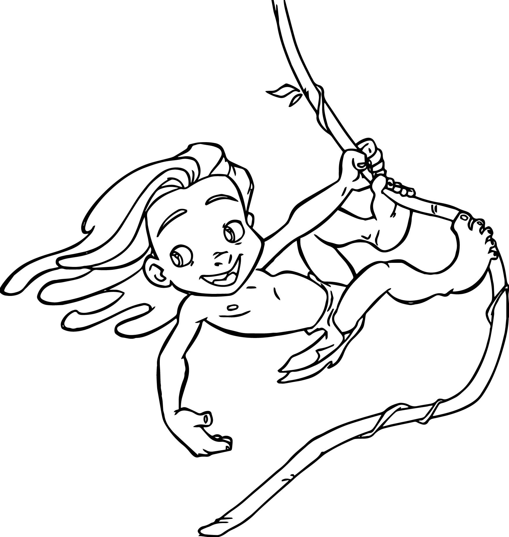 Awesome Young Tarzan Ivy Coloring Pages Coloring Pages Disney Coloring Pages Tarzan Tattoo