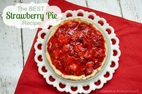 strawberry pie - 8 delicious strawberry recipes #summer #berries #dessert #potluck #delicious #fruit