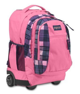 c2694612023f Amazon.com  JanSport Driver 8 Core Series Wheeled Backpack (Pink Pansy  Preston Plaid)  Sports   Outdoors