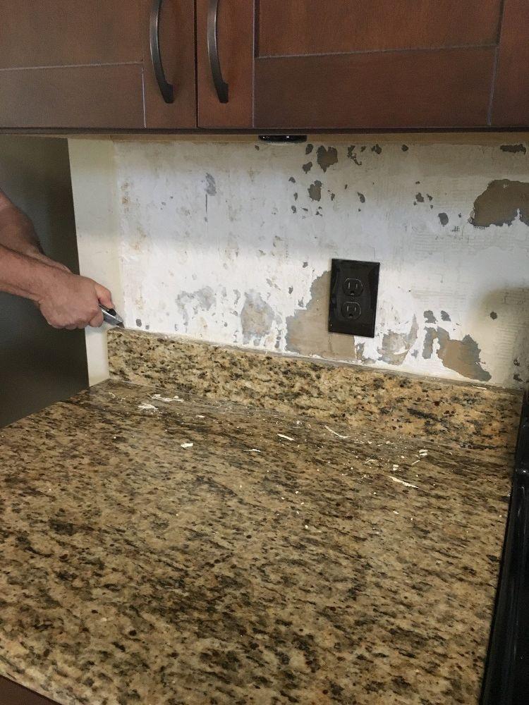 Backsplash And 4 Granite Removal Granite Backsplash Diy