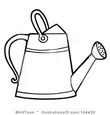 Image Result For Clipart Black And White Garden Watering Can Garden Tools Watering
