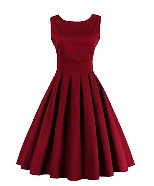Kleid in dunkelrot