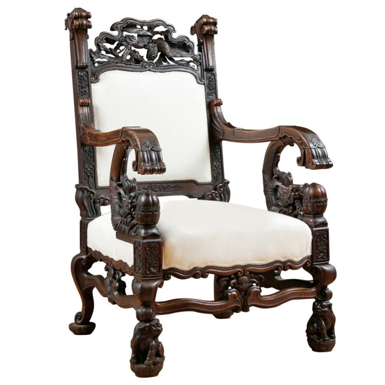 Chinese Dragon Chair in Elaborately Carved Rosewood - Chinese Dragon Chair In Elaborately Carved Rosewood Chinese Dragon