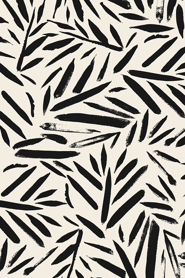Not So Black And White Leaves By Crystal Walen Cream And