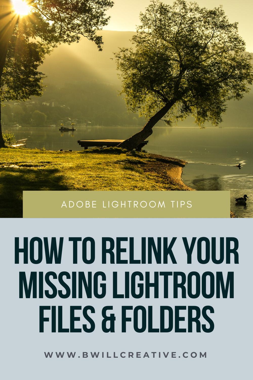 Lightroom missing folders