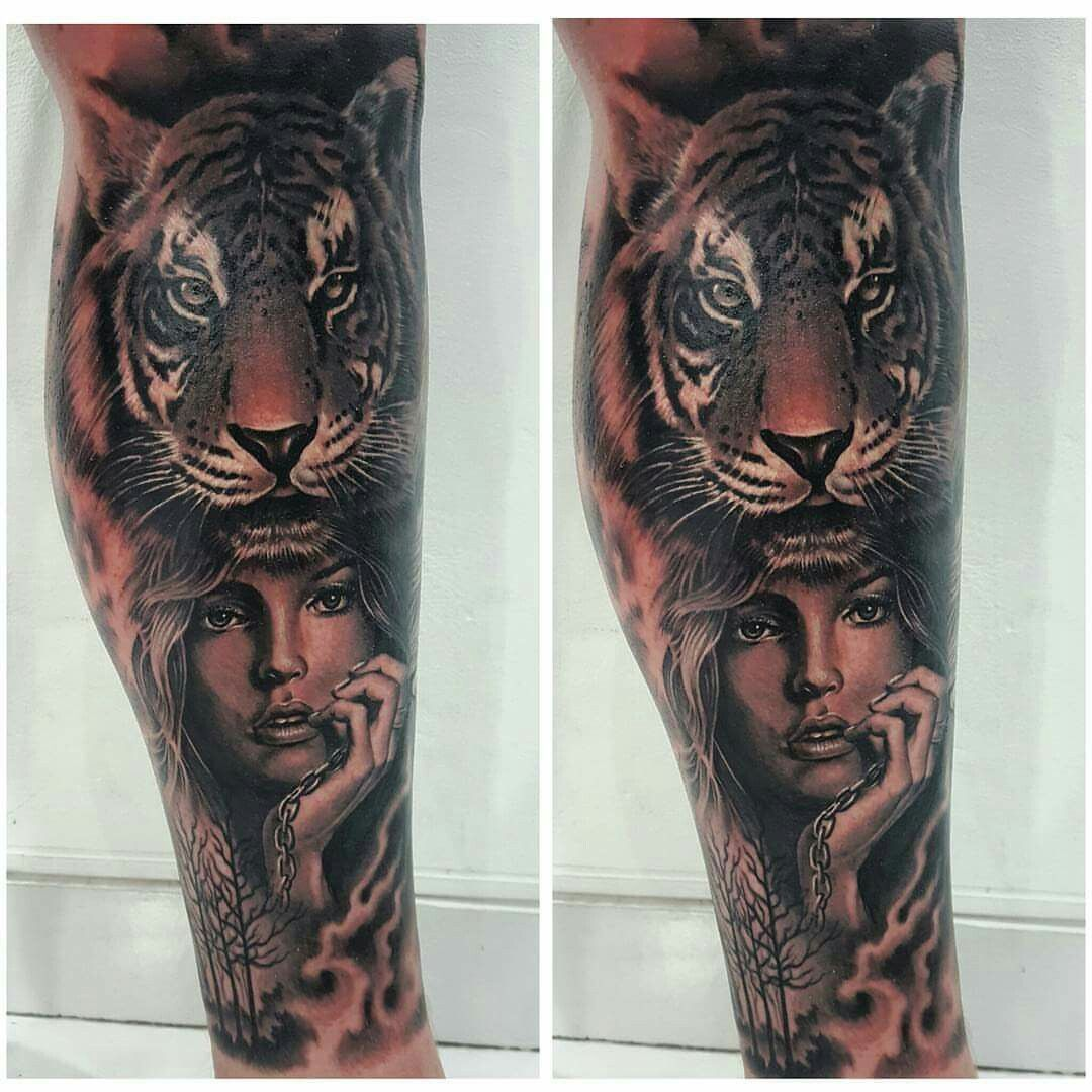 754065ad2 Girl with tiger hat tattoo | tattoos | Tattoos, Girl tattoos, Tiger girl